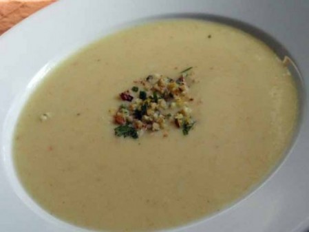 celery root and potato soup