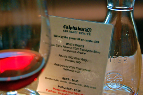 Calphalon wine list
