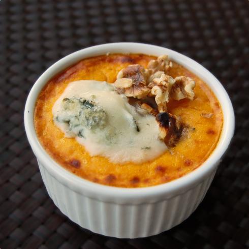 pumpkin gorgonzola flan on eatlivetravelwrite.com