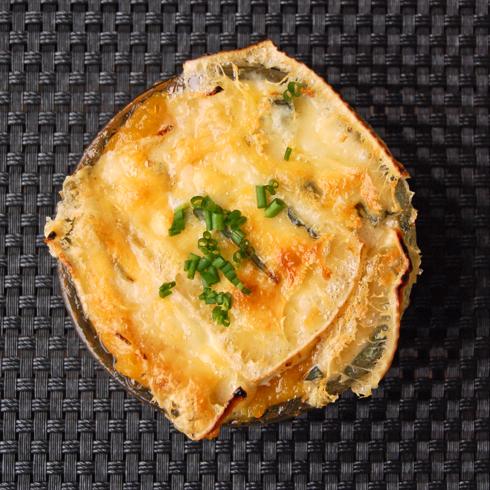 Pumpkin tartiflette with gorgonzola