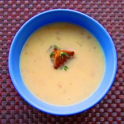 Dorie Greensan leek potato soup on eatlivetravelwrite.com