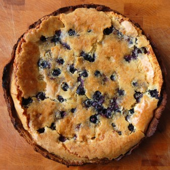 Dorie Greenspan orange almond tart blueberries
