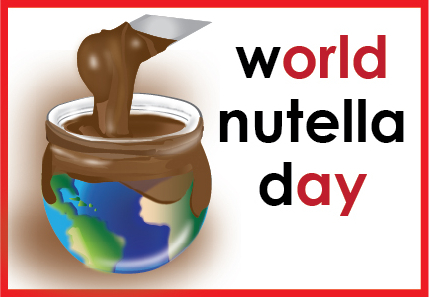 World Nutella Day logo on eatlivetravelwrite.com