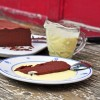 Chocolate terrine with creme anglaise on eatlivetravelwrite.com