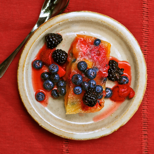 Berry And Banana Terrine Recipe — Dishmaps