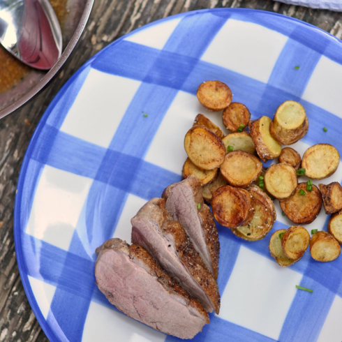 Dorie Greenspan 20 minute honey glazed duck breasts