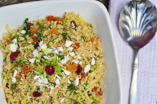 Maria Speck's lemon quinoa with currants, dill and zucchini Ancient Grains for Modern Meals recipe
