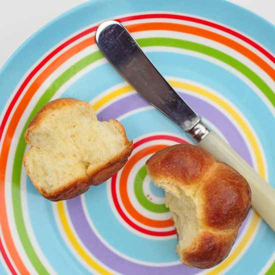Interior of Dorie Greenspan bubble top brioche on eatlivetravelwrite.com