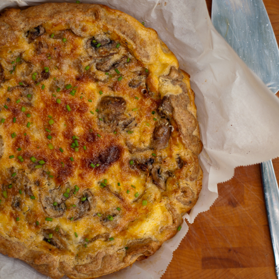 Dorie Greenspan mushroom and shallot quiche French Fridays with Dorie Around my French Table