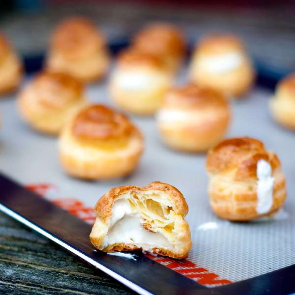 Dorie Greenspan's goat cheese mini puffs | eat. live. travel. write.