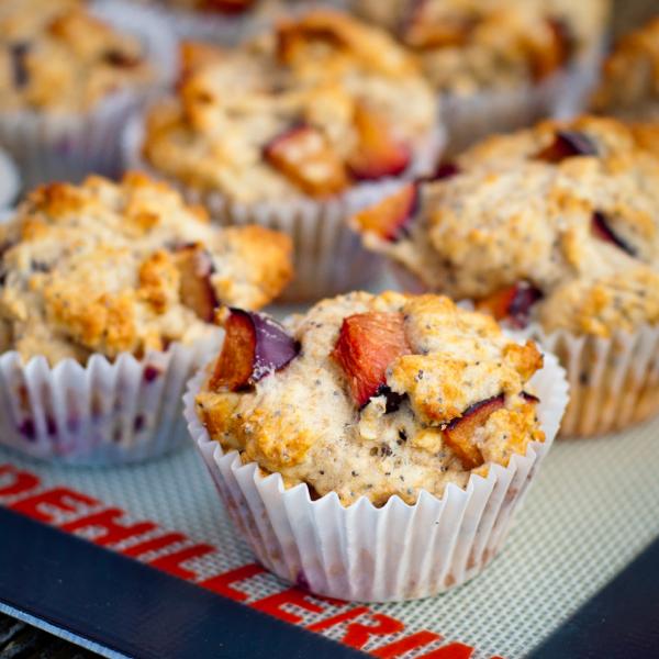 Smitten Kitchen Cookbook plum poppyseed muffins from the smitten kitchen cookbook | eat