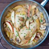 French Fridays with Dorie Around my French Table Dorie Greenspan's chicken apples and cream a la Normand on eatlivetravelwrite.com