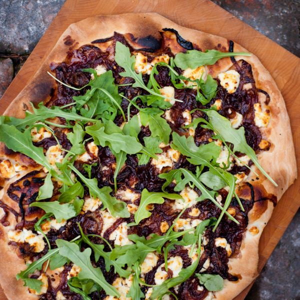 Tuesdays with Dorie Baking with Julia onion confit pizza