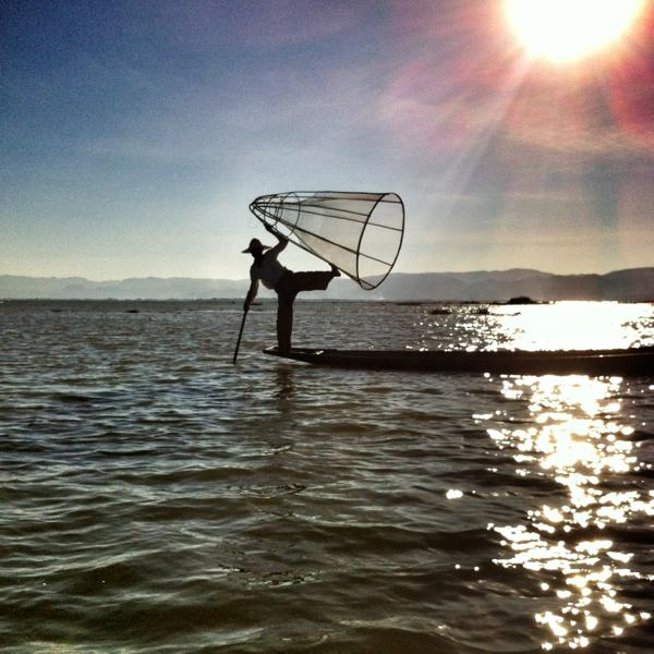Fisherman on Inle Lake in Burma