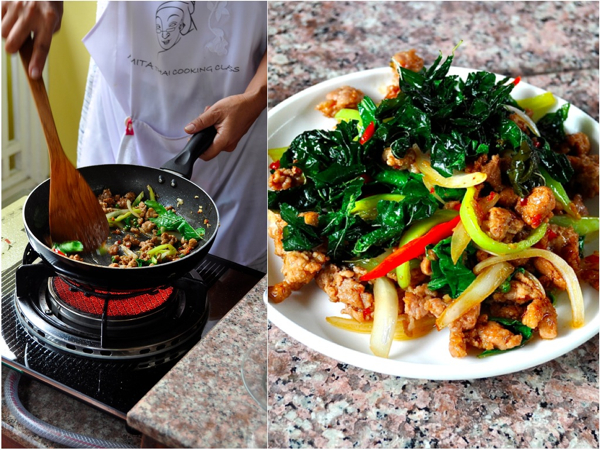 Gai Sab at Amita Thai Cooking School