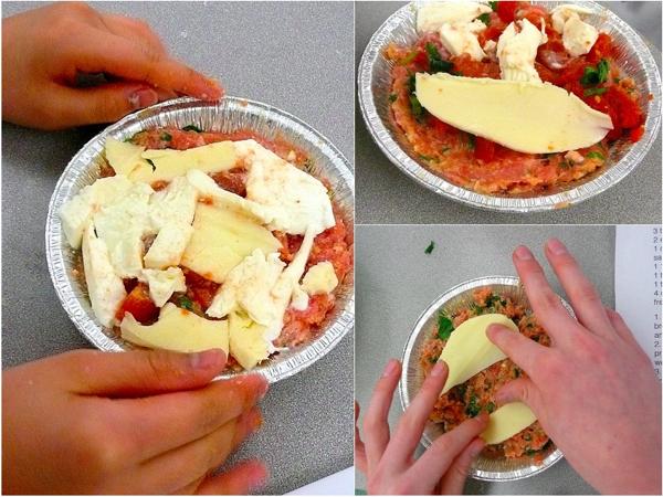 Assembling Nigella Lawsons meatzzas
