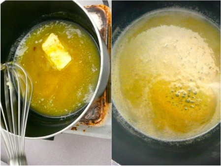 Butter honey and sugar for madeleines