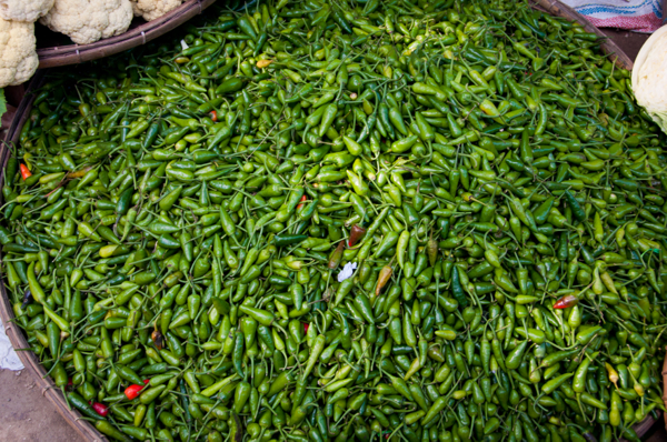 Chilies at Thandwe makret Burma