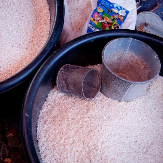 Rice at Thandwe market Burma