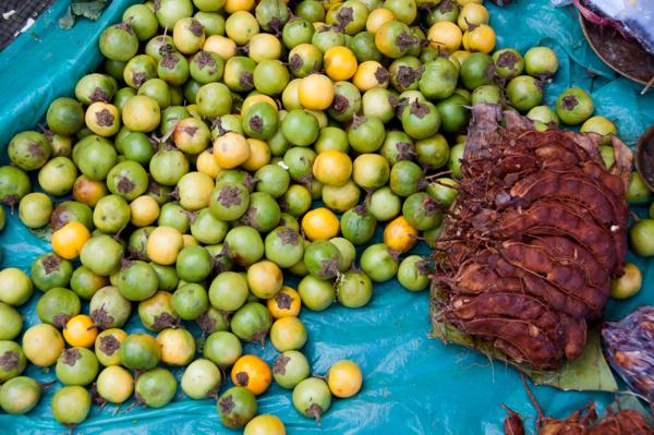 Fresh produce at Thandwe market Burma