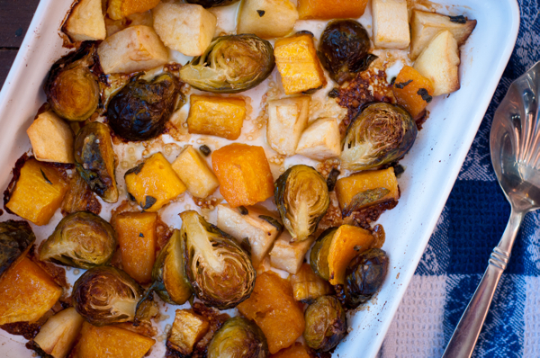 brown sugar squash and brussels sprouts en papillote Dorie Greenspan Around my French Table French Firdays with Dorie
