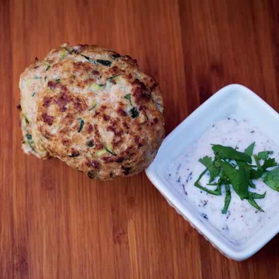 "from ""Jerusalem"" by Yotam Ottolenghi and Sami Tamimi Turkey & Zucchini Burgers with Green Onion & Cumin"
