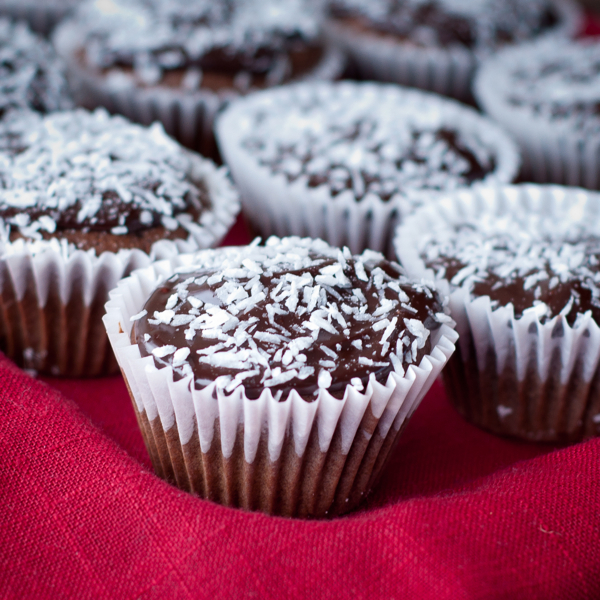 Gluten free chocolate coconut cupcakes