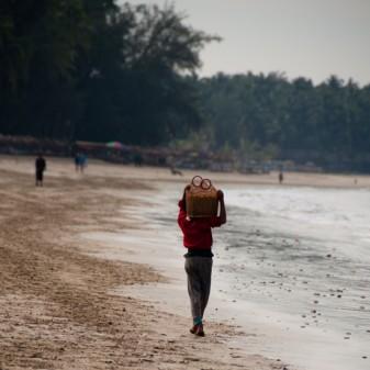 On the beach Ngapali BurmaOn the beach Ngapali Burma
