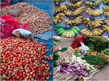 At the Kalaw morning market