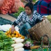Woman in Kalaw market Burma