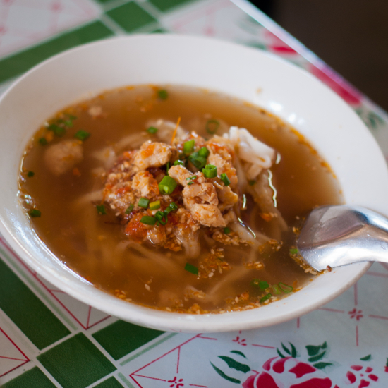 Shan noodle soup at Pyae Pyae Shan Noodl Kalaw