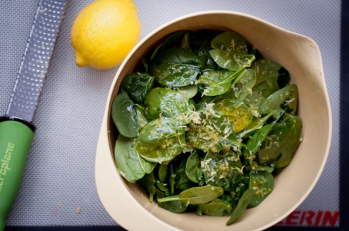 lemon steamed spinach dorie greenspan, around my french table, french fridays with dorie