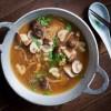 Miso mushroom noodle bowl
