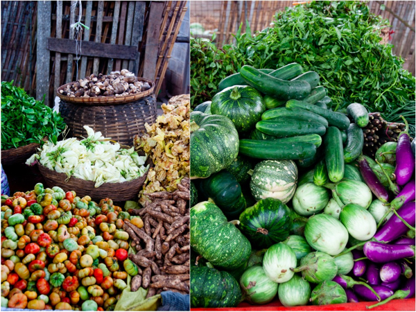 Fresh produce at Kalaw Market