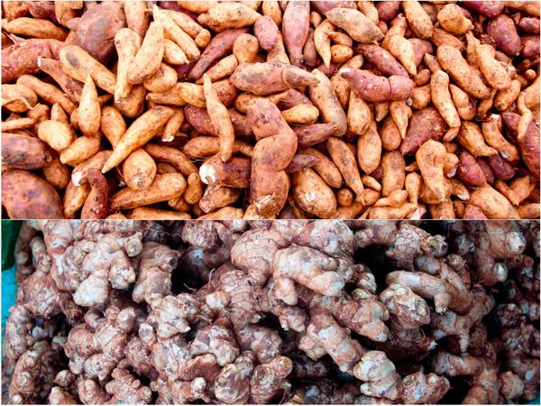 Ginger and tumeric Kalaw market