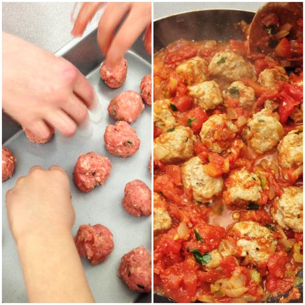 Jamie Oliver's Spaghetti and meatballs