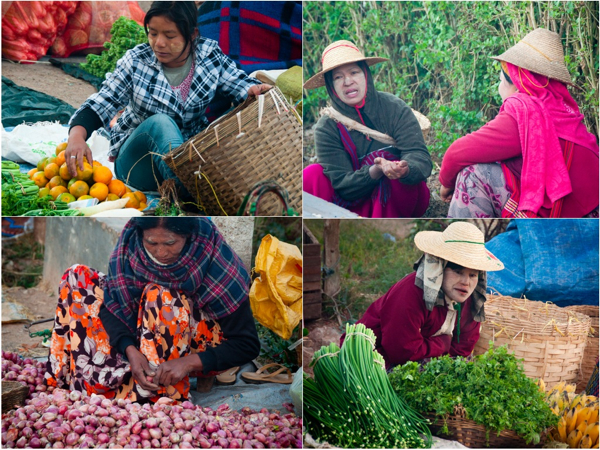 Kalaw market vendors
