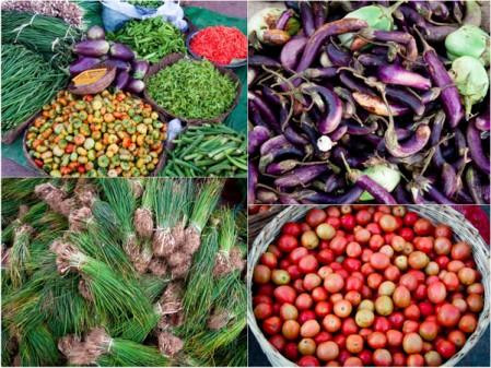 Local colours at Kalaw morning market
