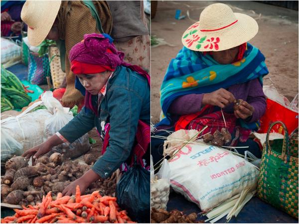 Local faces at Kalaw morning market