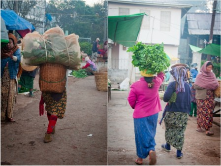 Market morning in Kalaw