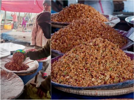 Measuring at Kalaw morning market