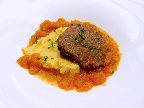 Almost Famous Chef Recipes Canada Honey-seared beef with apple parsnip puree and vegetable sauce