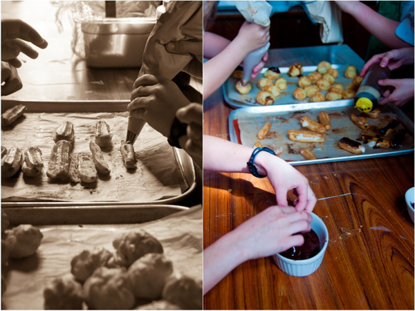 Cooking with kids filling eclairs and cream puffs by eat. live. travel. write.