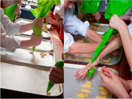 Cooking with kids piping choux pastry by eat. live. travel. write.