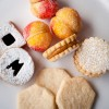 Linzer Cookies Alfajores Pesche Shortbread cookies at Bonnie Gordon College Toronto