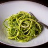 Chef Mary Hulbert Raw zucchini pasta with lemon herb pesto dairy free gluten free vegan