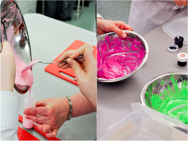 Royal icing mixing with Adell Shneer of Art to Eat Cookies