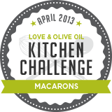 Love and Olive Oil Kitchen Challenge macarons April
