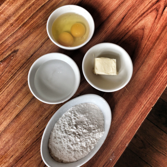 Ingredients for Choux Pastry by eat. live. travel. write.