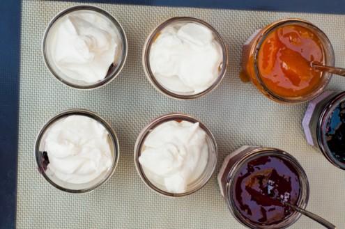 Little pots of cream and jam Mardi Michels eatlivetravelwrite.com